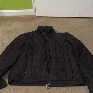 Black Lacoste Puffer Jacket
